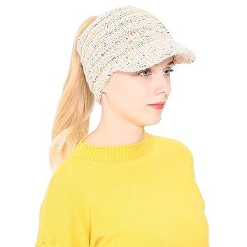 OVINEE Mujer Hombre Otoño Invierno Beanie Hat Tejer Lana Gorra de béisbol  Orejeras Sombrero ff026f18770