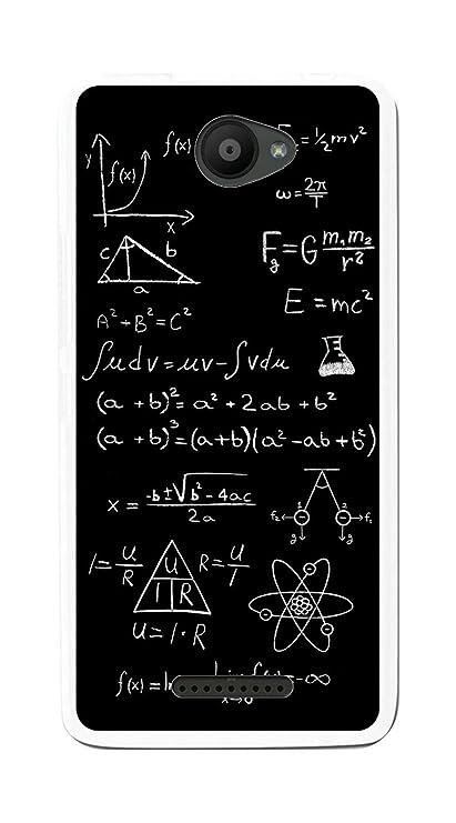 Tumundosmartphone Funda Gel TPU para BQ AQUARIS U/U Lite diseño Formulas Dibujos