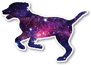 Dog Running Sticker Galaxy Stickers - Laptop Stickers - 2.5