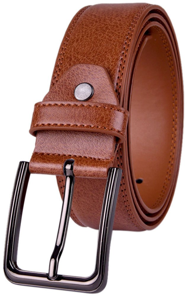 Belts for Men Dress Leather Belt for Business and Casual Clothing Single Prong Buckle with Gift Box