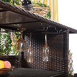 Giantex Outdoor Patio Rattan Wicker Bar Counter