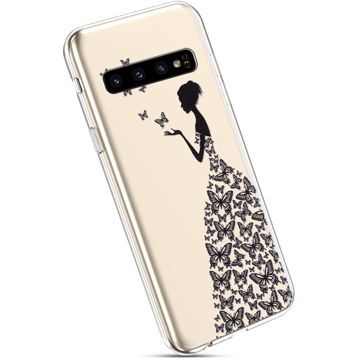 Ysimee Compatible Fundas Samsung Galaxy S10 Plus Estuches Cristal Anti-Golpes Ultra Slim Carcasa Silicona Suave Transparente Protector TPU Anti-Choque Ultra-Delgado Anti-ara/ñazos Bumper,Atrapasue/ños