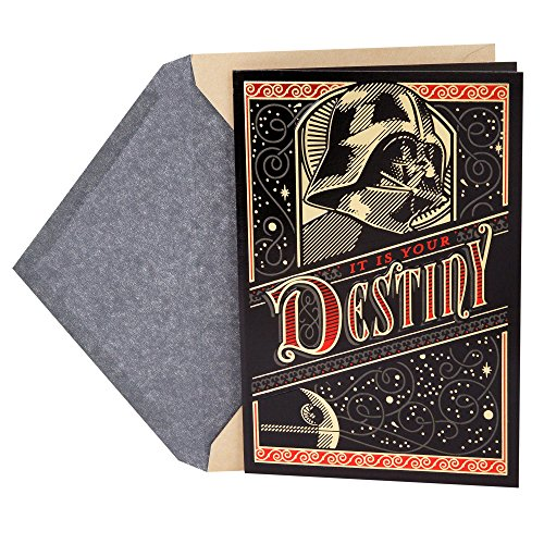 Hallmark Father's Day Greeting Card (Star Wars Darth Vader The Force is Strong with You)