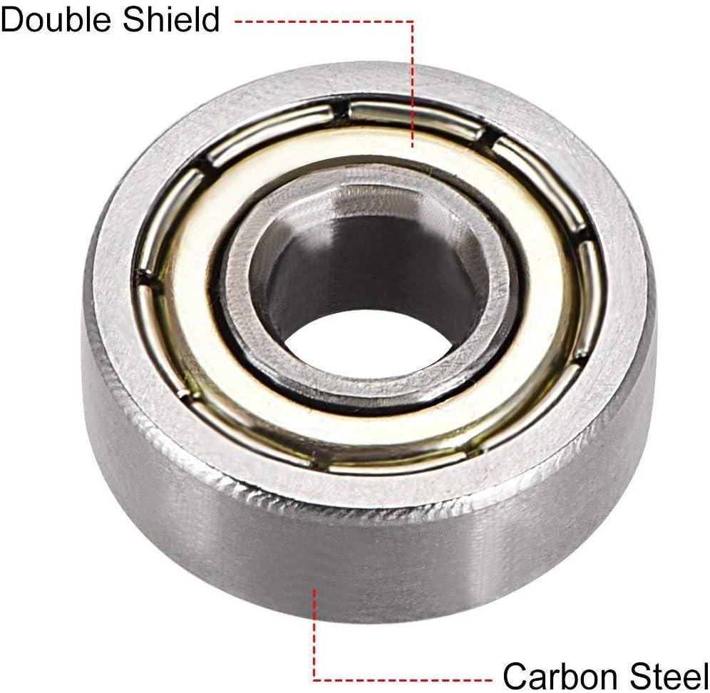 609/ZZ//RS Shield//scell/é type a18051900ux0216 Sourcingmap en acier au carbone Deep Groove Ball Beariang 604