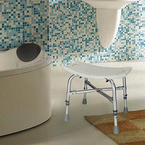 Mefeir Medical Shower Chair Bath Stool Transfer Bench Seat,Heavy Duty 450LBS Upgrade Framework SPA Bathtub Chair,No-Slip Adjustable 6 Height (Normal) by Mefeir (Image #3)