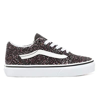 154f993c9a93d Vans Kids Girl's Old Skool Glitter Stars Skate Shoes