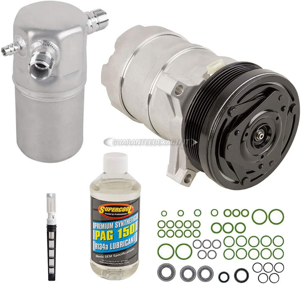 AC Compressor /& A//C Repair Kit For Cadillac Deville 4.6L Northstar V8 1994 1995 1996 1997 1998 1999 BuyAutoParts 60-80108RK New