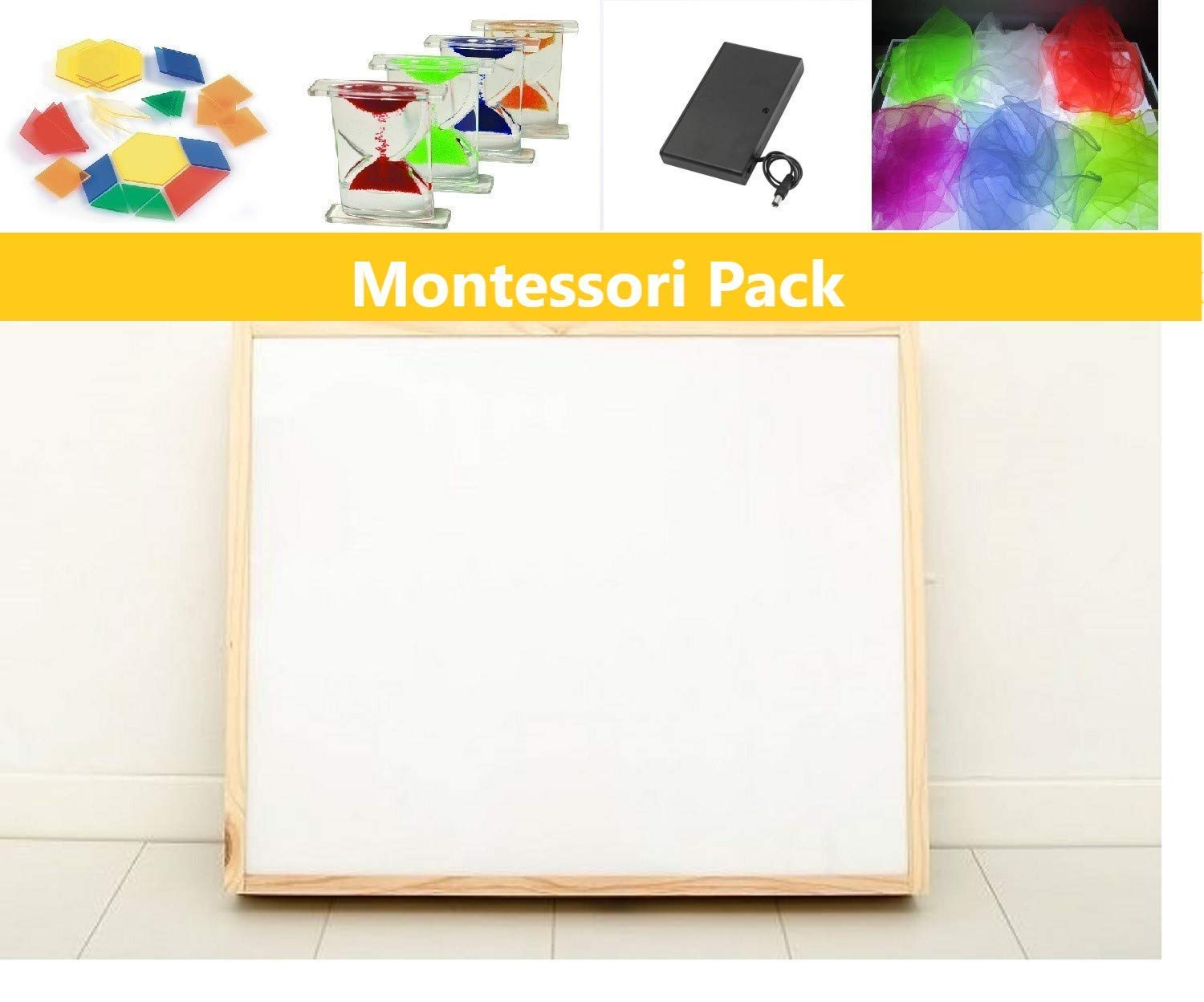 Pack caja de luz Montessori RGBW 50x60cm + materiales: Amazon.es ...
