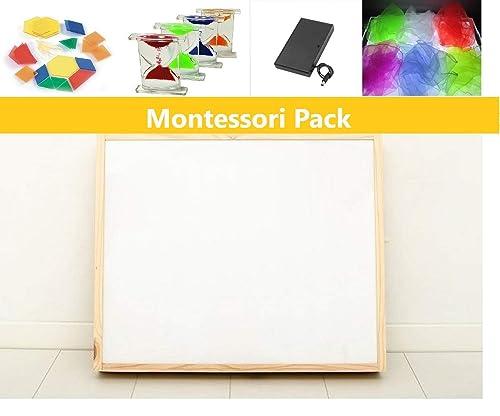 Pack caja de luz Montessori RGBW 50x60cm + materiales: Amazon.es ...
