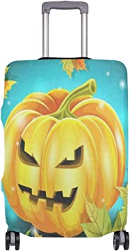 Suitcase Cover Hallowen Pumpkin Luggage Cover Travel Case Bag Protector for Kid Girls