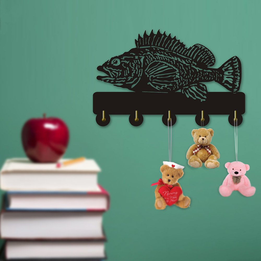 Rock Fish Shape Design Sea Animals Creative Wall Decor Art Wall Hooks Clothes Coat Towel Hooks Keys Holder Bathroom Kitchen Hanger Decor Hooks by The Geeky Days (Image #4)