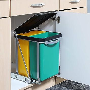 Mojawo Einbau - Abfalleimer für die Küche Schrank-Mülleimer Abfall ...