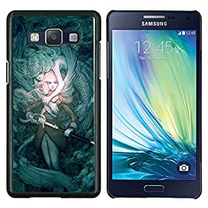 For Samsung Galaxy A5 A5000 A5009 - teal mystery fairytale sword pc game /Caja protectora de pl???¡¯????stico duro de la cubierta Dise???¡¯???¡Ào Slim Fit/