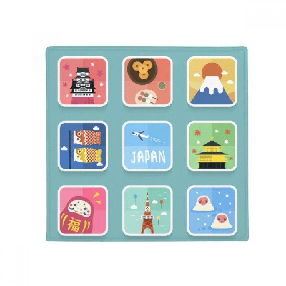 DIYthinker Local Japanese Travelling Culture Anti-Slip Floor Pet Mat Square Home Kitchen Door 80Cm Gift