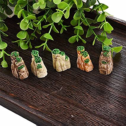 Buy Beauty 40 PCS Mini Mountain Bonsai Ornaments Plant Gardening Best Gardening Decorative Accessories