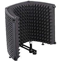 Micrófono Mic Aislamiento Escudo De Absorción De Sonido De Panel Plegable De Espuma Reflector para La Grabación del…
