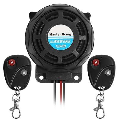 Rupse Waterproof Motorcycle Remote Control Alarm Warner Anti-Theft Security Burglar Alarm System: Home Audio & Theater