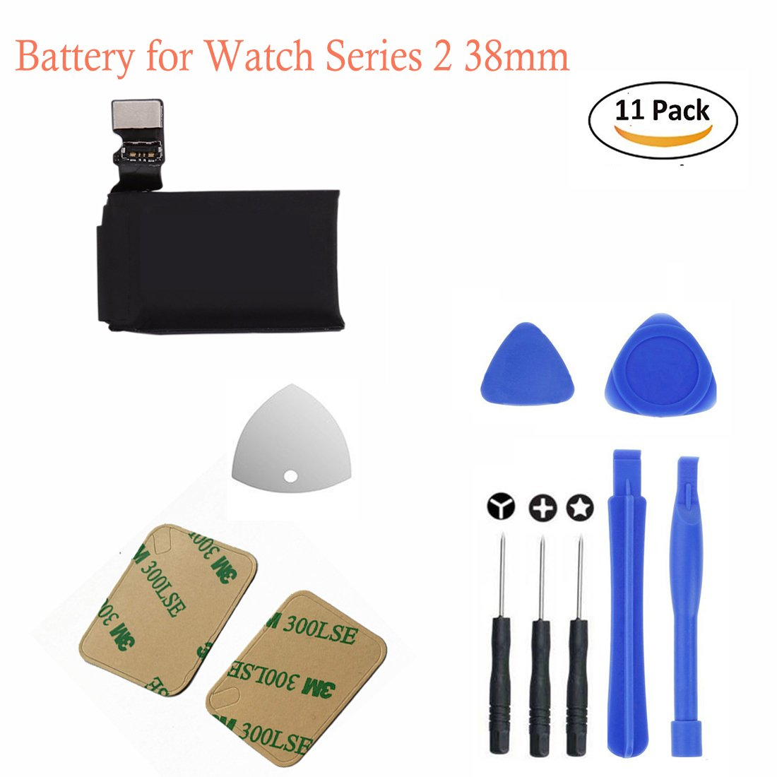 Hdcku Replacement Battery Kit For Apple Watch Series 2 Baterai Iwatch 38mm A1757 And A1816365 Days Warranty Cell Phones Accessories