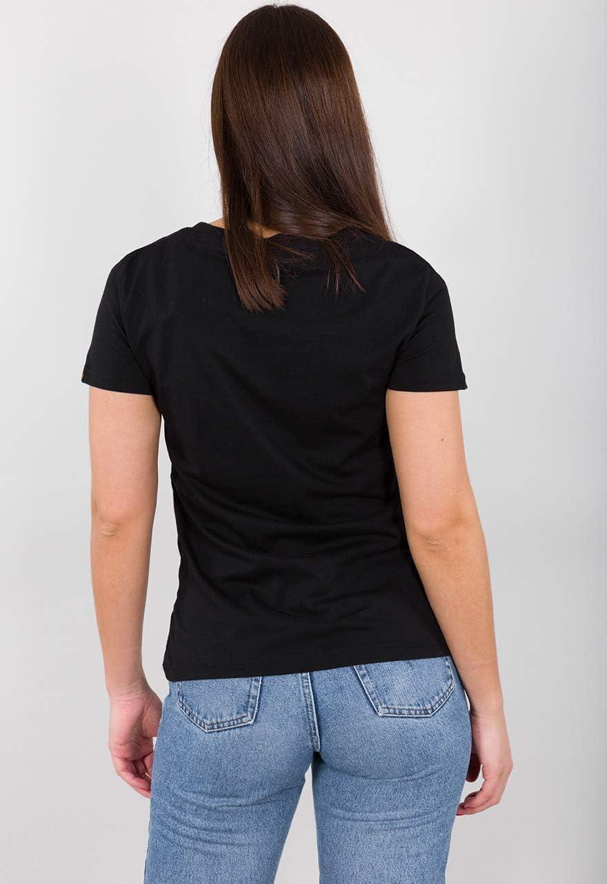 Alpha Industries New Basic Damen T-Shirt Farbe:Rot Gr/ö/ße:XS
