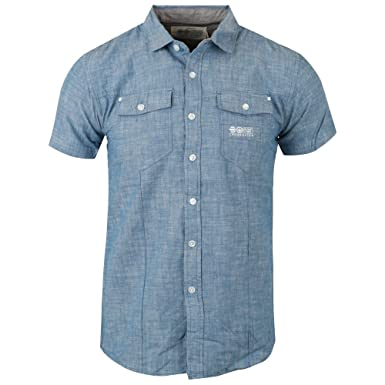 9917e301 Crosshatch Plappel Chambray Linen Casual Shirt: Amazon.co.uk: Clothing