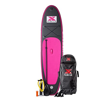 XTERRA tabla paddle surf hinchable, doblaba en mochila, SUP pack, rosa