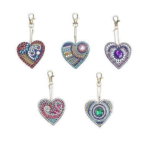 5 unids/set diy corazón amor taladro completo en forma de ...