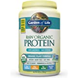 Garden of Life Organic Vegan Protein Powder with Vitamins and Probiotics - Raw Organic Plant Based Protein Shake, Sugar Free, Unflavored, 20.0oz (1 lb 4 oz / 568g) Powder