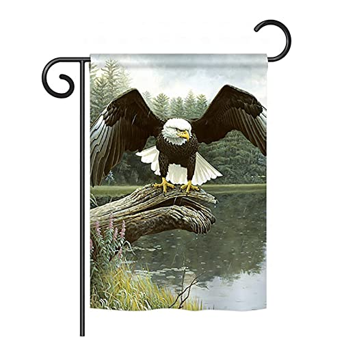 Breeze Decor Majestic duchas Calva American Eagle Bandera de ...