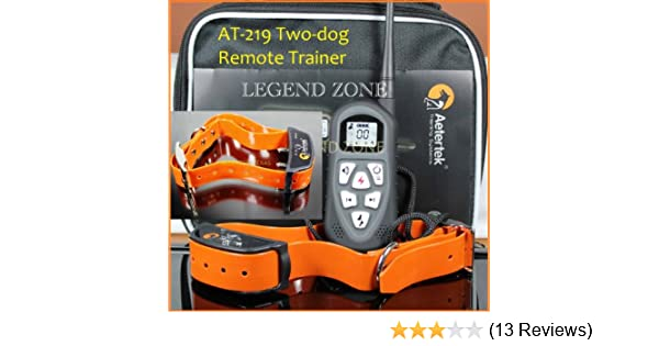 Amazon.com   Aetertek AT-219 (UPGRADED NEW VERSION) LCD Display Remote  Control 4-in-1 Dog Training Collar with Shock 8ff2cbcd0a5