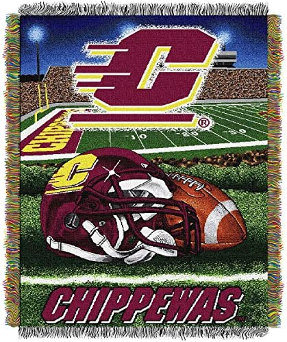 The Northwest会社中央ミシガンChippewas Home Field Advantage Woven Tapestry Throw