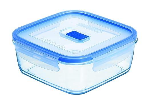 Luminarc Pure Box Active - Recipiente hermético de Vidrio, Cuadrado, tamaño 0,38 litros