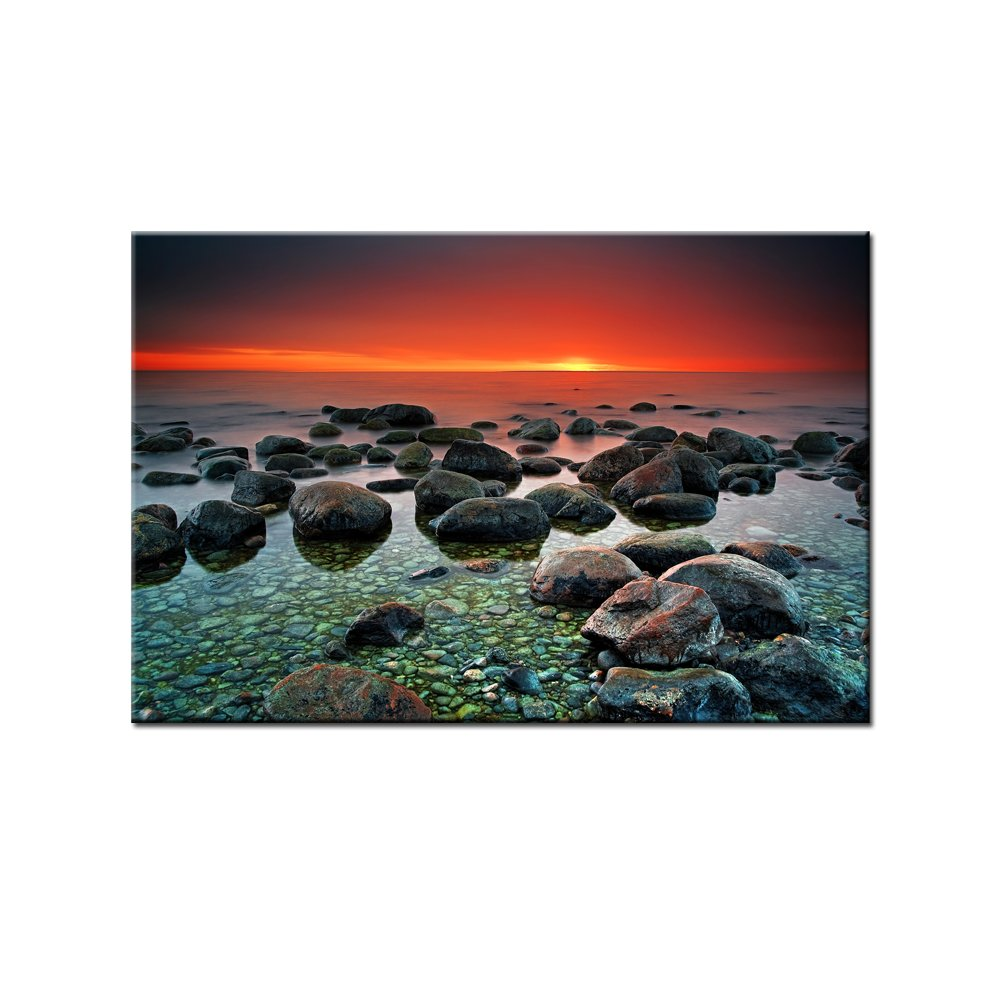 Mysterious Sunset - 24'' x 36'' Print On Cnvas HD WaterProof High Gloss by