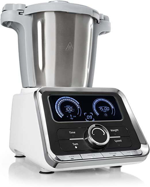Klarstein GrandPrix - Robot de cocina, Batidora, Maquina de amasar ...
