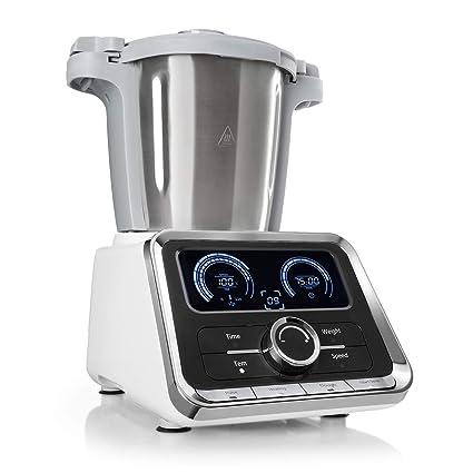 Klarstein GrandPrix - Robot de cocina , Batidora , Maquina de amasar , 500-1000W , Recipiente de acero inoxidable , 2,5L , Temperatura ajustable entre ...