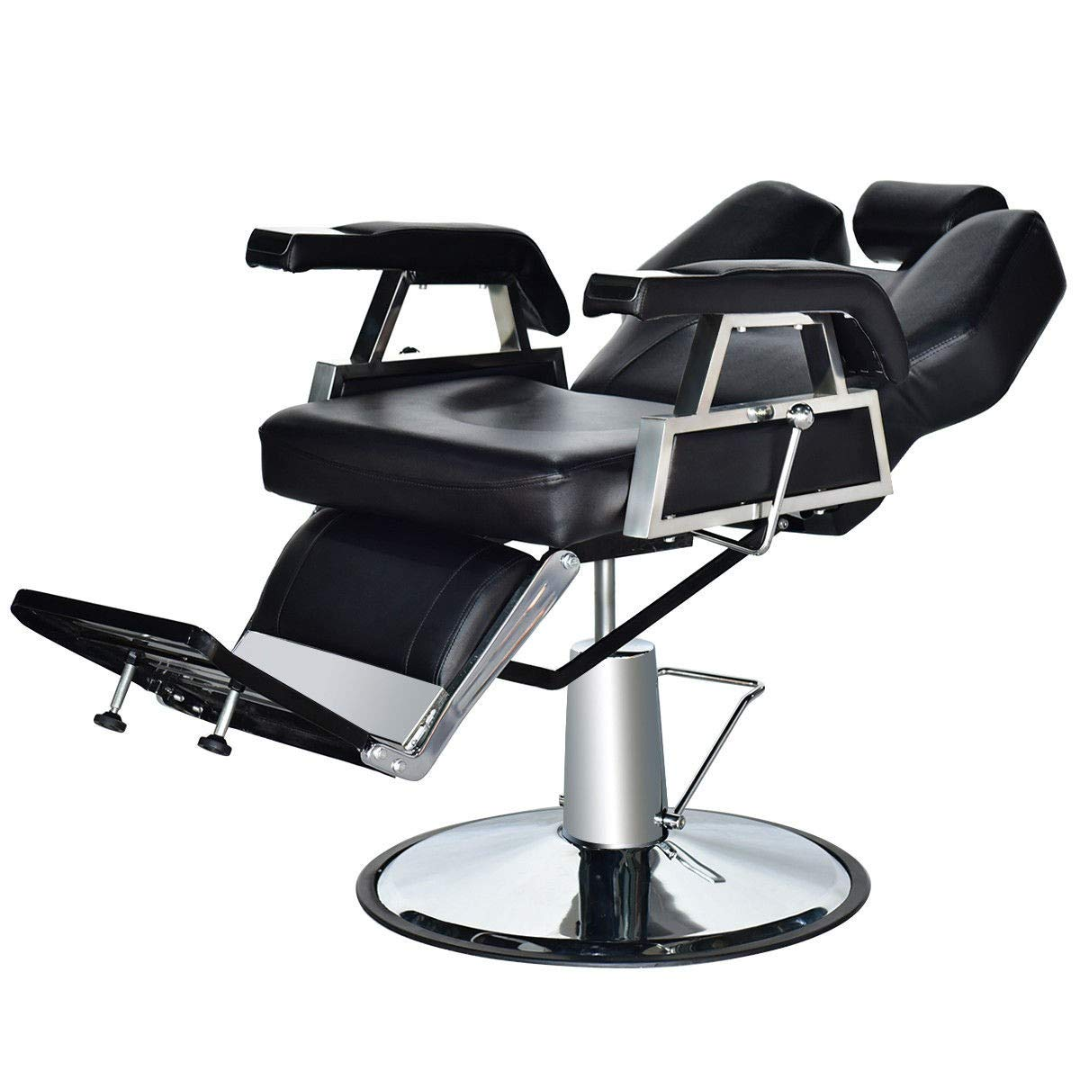 Amazon.com: Best Leather Hydraulic Recline Salon Spa Styling Barber Chair  Modern Luxury Black Color: Beauty