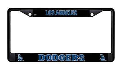 4536eae0f83 Image Unavailable. Image not available for. Color  Los Angeles Dodgers  Chrome License Plate Frame