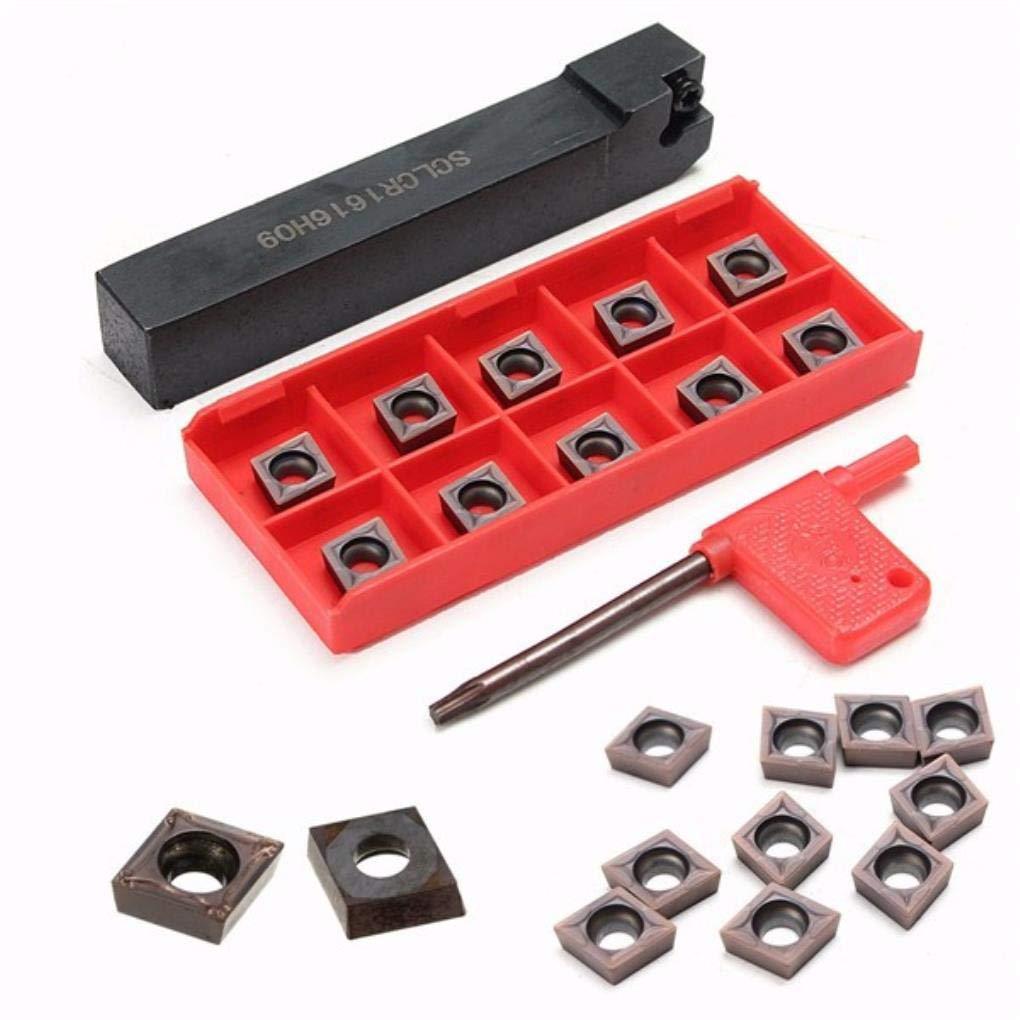 SCLCR1616H09 Lathe Turning Tool 10pcs CCMT09T304 VP15TF CCMT32.51 Carbide insert