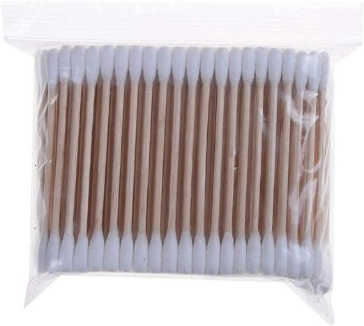 Bastoncillos de algodón Welecom con mangos de madera para ...