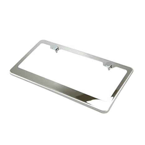 Amazon.com: Marco sujetador espejado pulido para placa ...