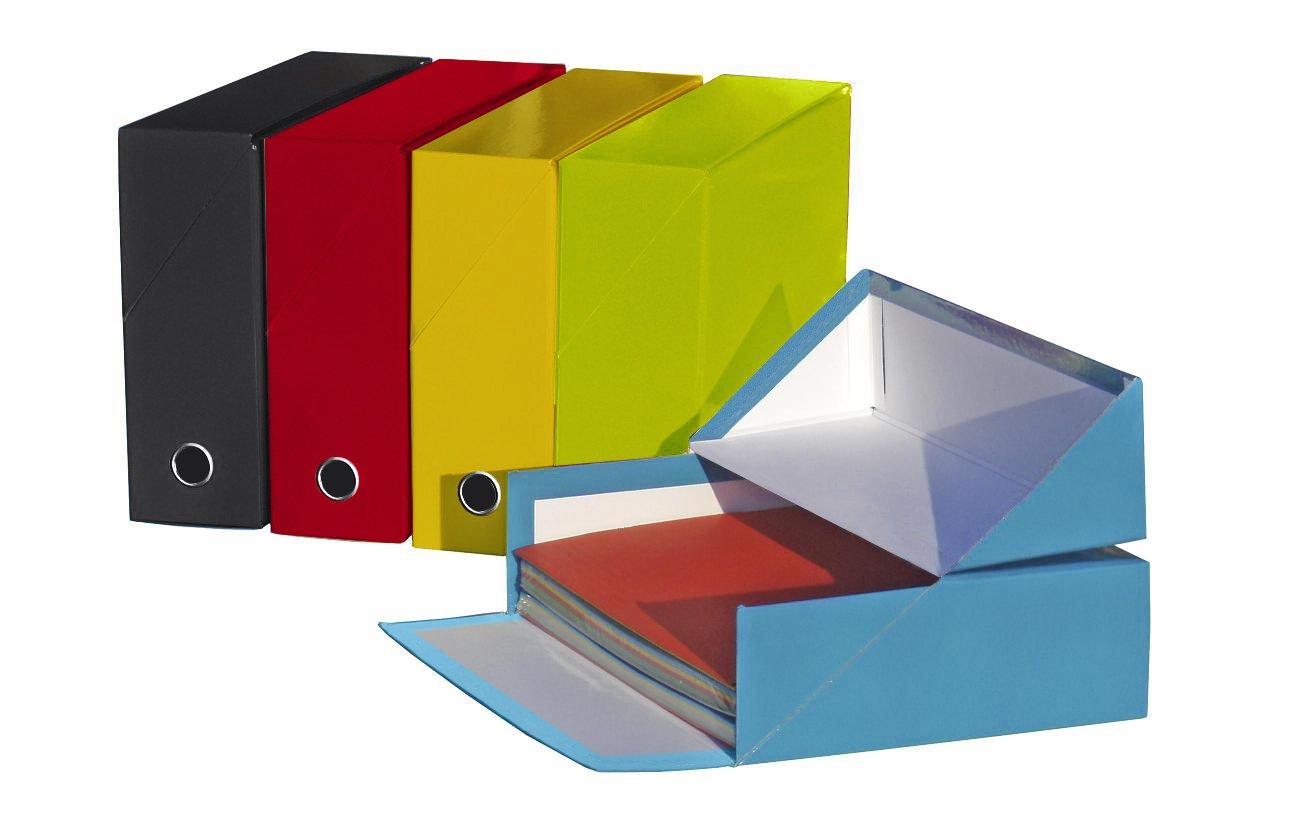 Elba Color Life - Pack de 5 cajas de transferencia, cartón compacto rígido: Amazon.es: Oficina y papelería