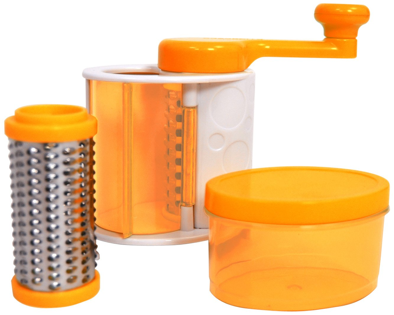 Casabella Grate'n Store Rotary Cheese Grater, orange 53688