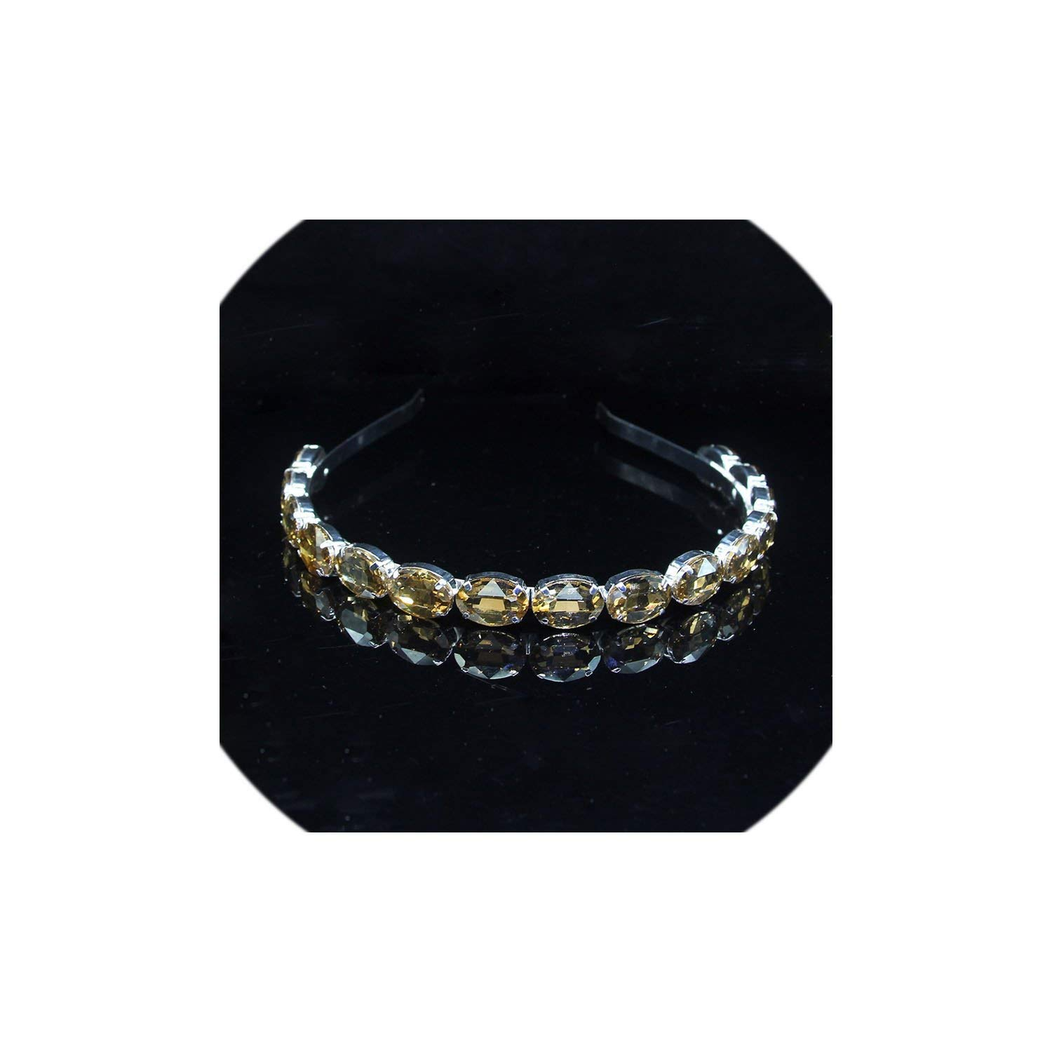 3 Colors Oval Crystal...