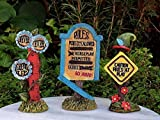 Miniature Dollhouse Fairy Garden Set 3 Enchanted Forest Signs Rules Play