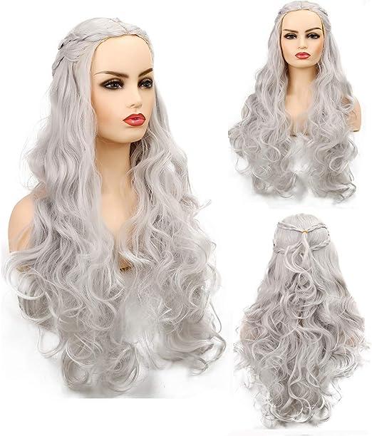 Peluca de cosplay Baruisi de pelo largo ondulado para mujer ...