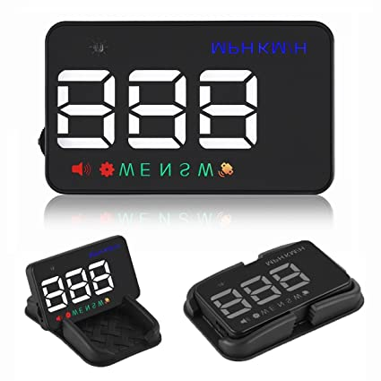 Heads up Display Cars Universal GPS Speedometer 3.5 inch HUD Digital Car Compass with Cigarette Lighter Port, Speed, Compass, Over Speed Alarm, ...