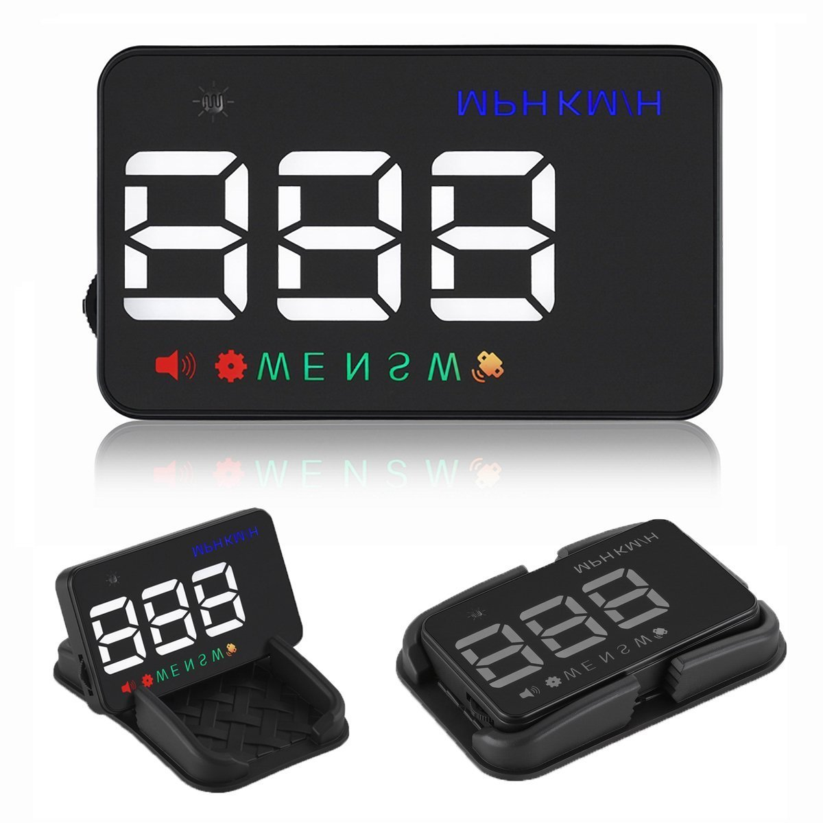 Heads up Display Cars Universal GPS Speedometer 3.5 inch HUD Digital Car Compass with Cigarette Lighter Port, Speed, Compass, Over Speed Alarm, KMH/MPH, Windshield Projector with Film for 12V All Cars