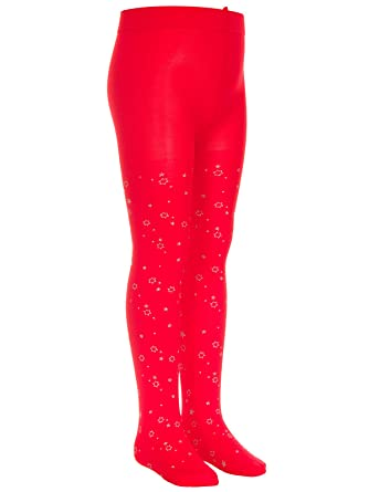 74553751028f3 TLLC Girls Glitter STARS Printed Tights 60 Denier Opaque: Amazon.co.uk:  Clothing