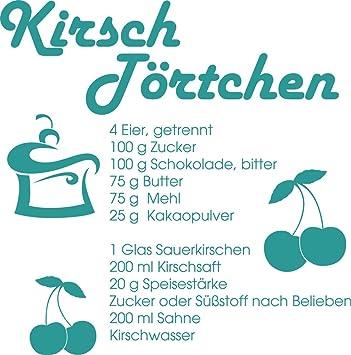 GRAZDesign Küche gemütlich dekorieren Kirsch Törtchen - Wandtattoo ...