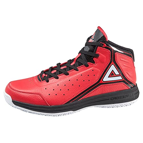 Peak Men's Classic Professional Basketball Shoes Red/Black Size US8