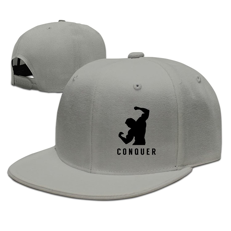 HNN Unisex Conquer Flat Baseball Caps Hats